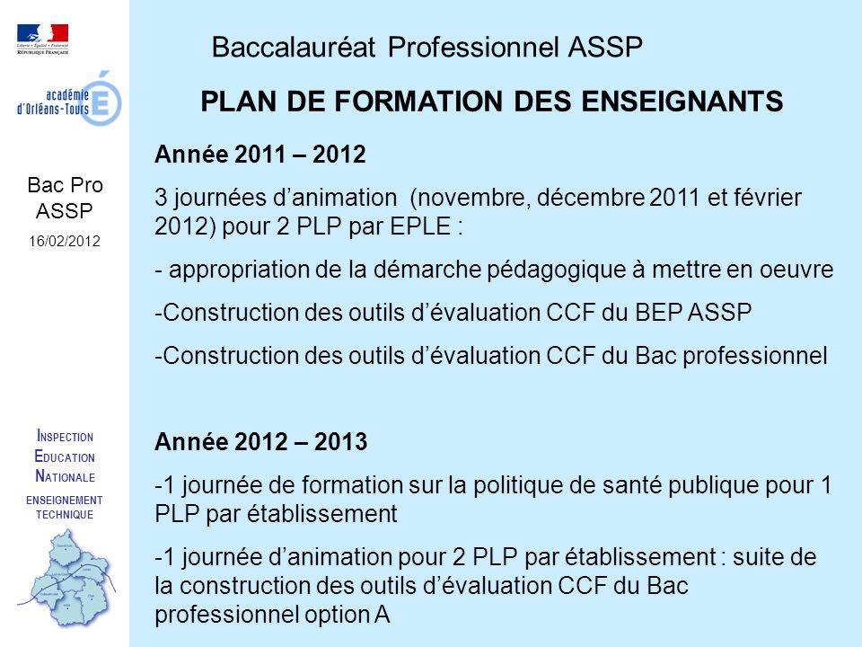 PLAN DE FORMATION DES ENSEIGNANTS ENSEIGNEMENT TECHNIQUE