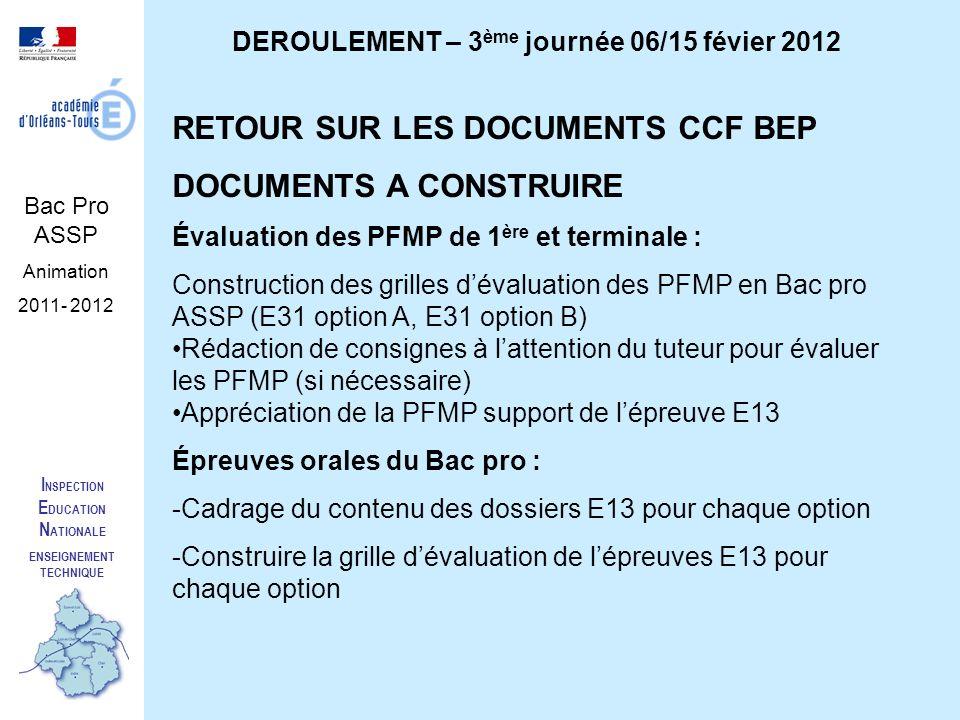 Deroulement 3 me journ e 06 15 f vier 2012 enseignement - Grille indiciaire cpe education nationale ...