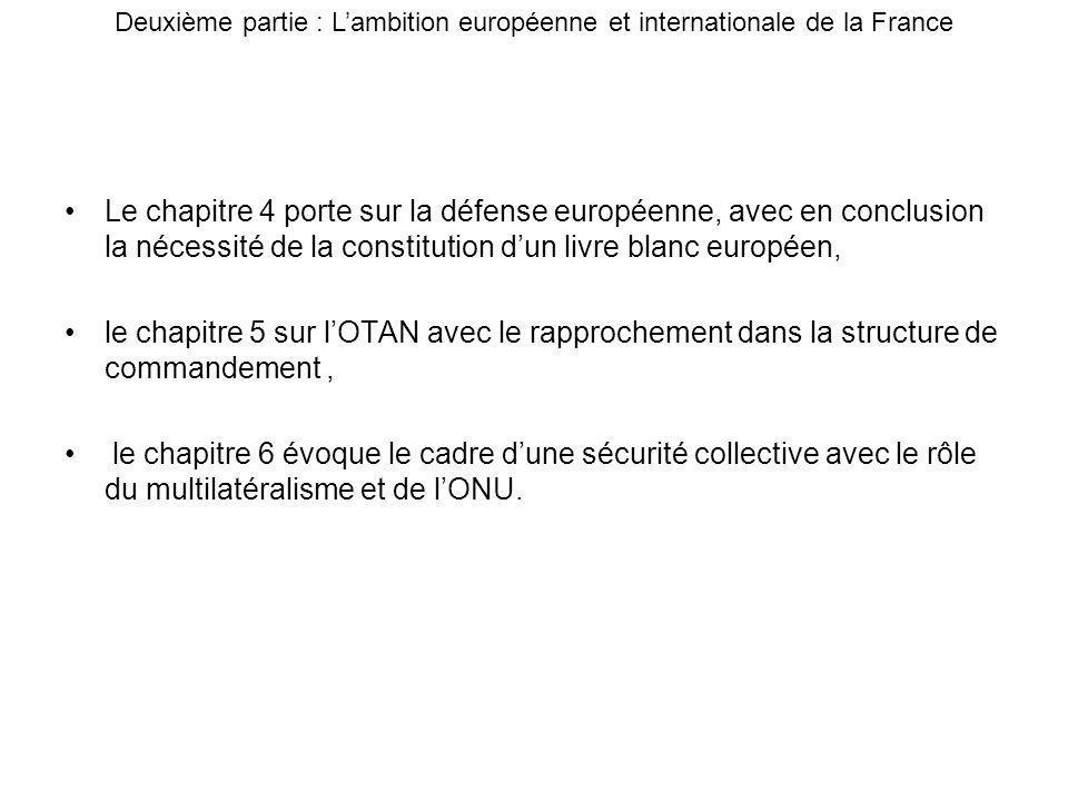 Deuxième partie : L'ambition européenne et internationale de la France