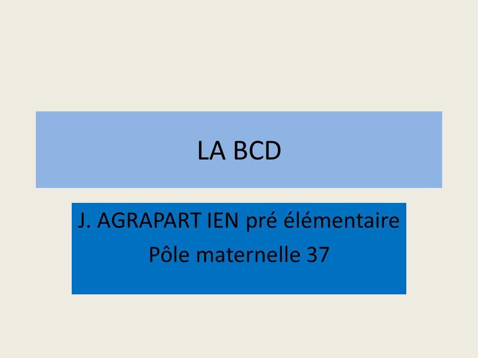 J. AGRAPART IEN pré élémentaire Pôle maternelle 37