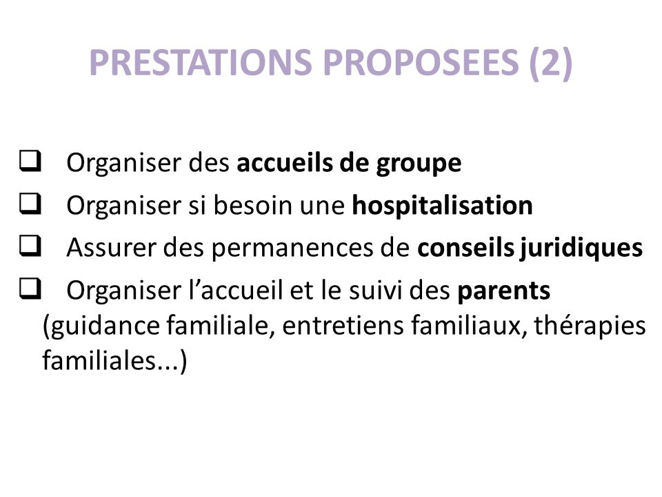 PRESTATIONS PROPOSEES (2)