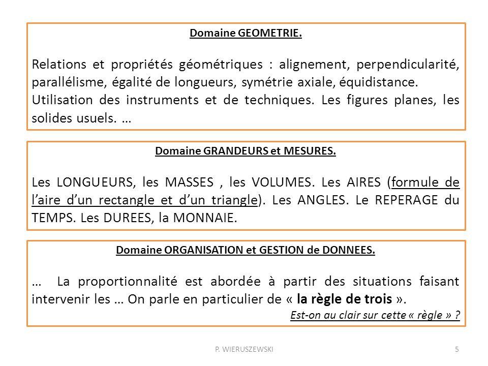 Domaine GEOMETRIE.