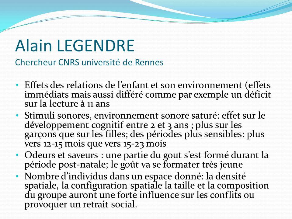 Alain LEGENDRE Chercheur CNRS université de Rennes