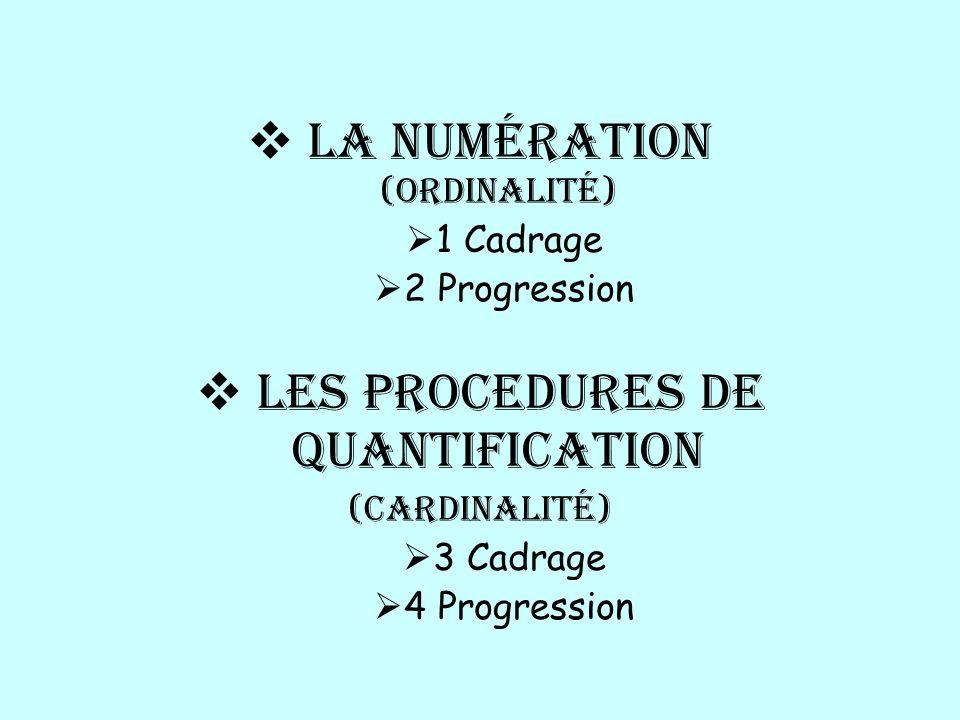 La numération (ordinalité)