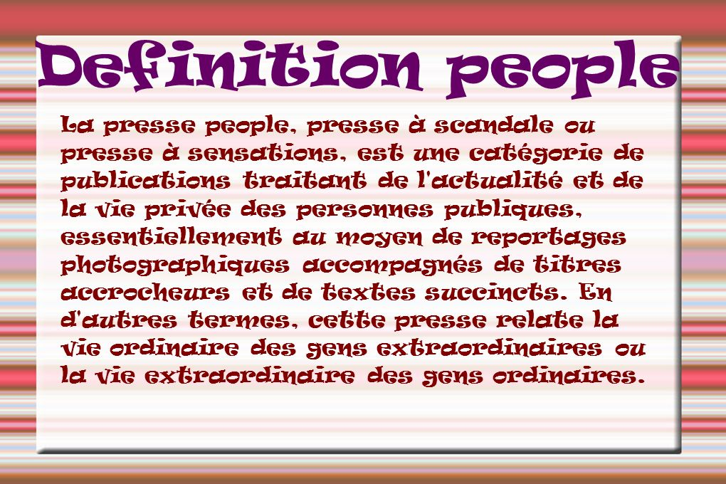 Definition people