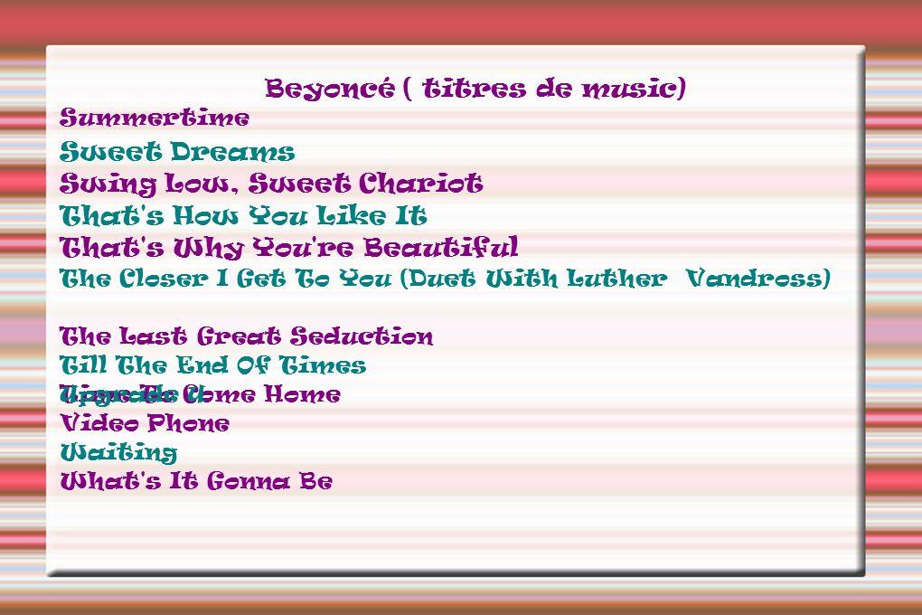 Beyoncé ( titres de music)