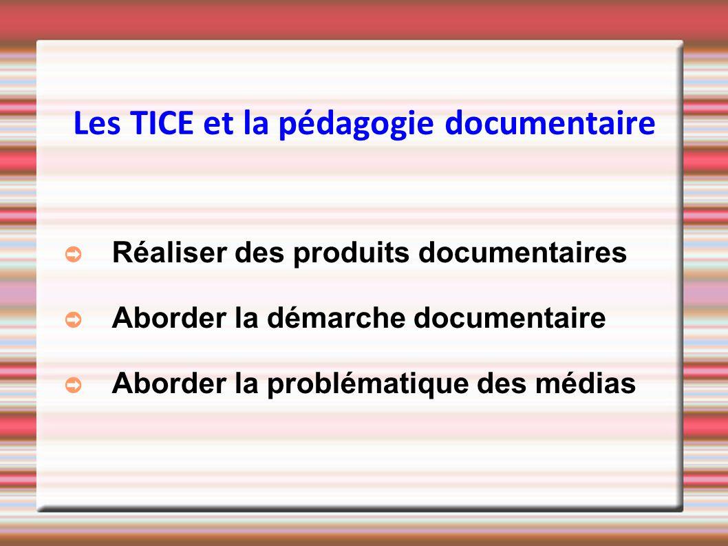 Les TICE et la pédagogie documentaire