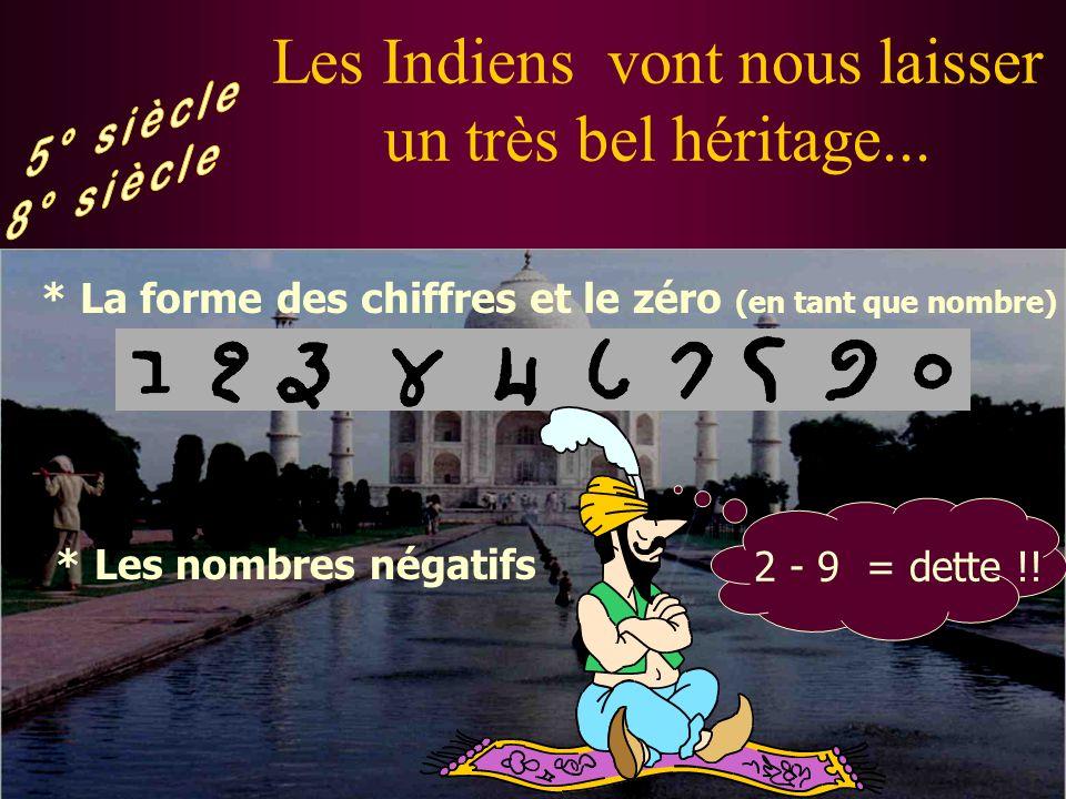 Les Indiens vont nous laisser un très bel héritage...