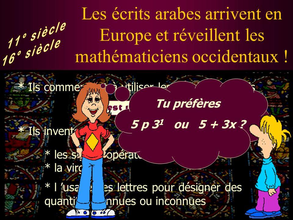 Les écrits arabes arrivent en Europe et réveillent les mathématiciens occidentaux !