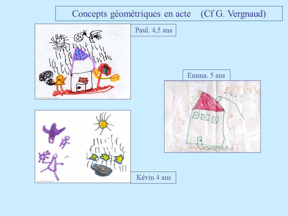 Concepts géométriques en acte (Cf G. Vergnaud)