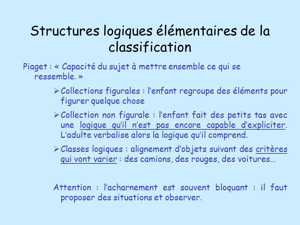 Structures logiques élémentaires de la classification