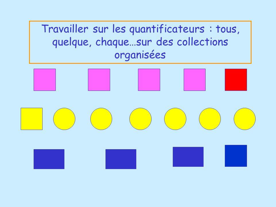 Travailler sur les quantificateurs : tous, quelque, chaque…sur des collections organisées