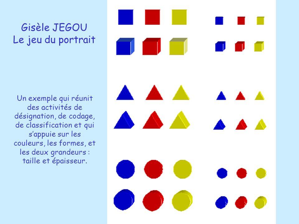 Gisèle JEGOU Le jeu du portrait