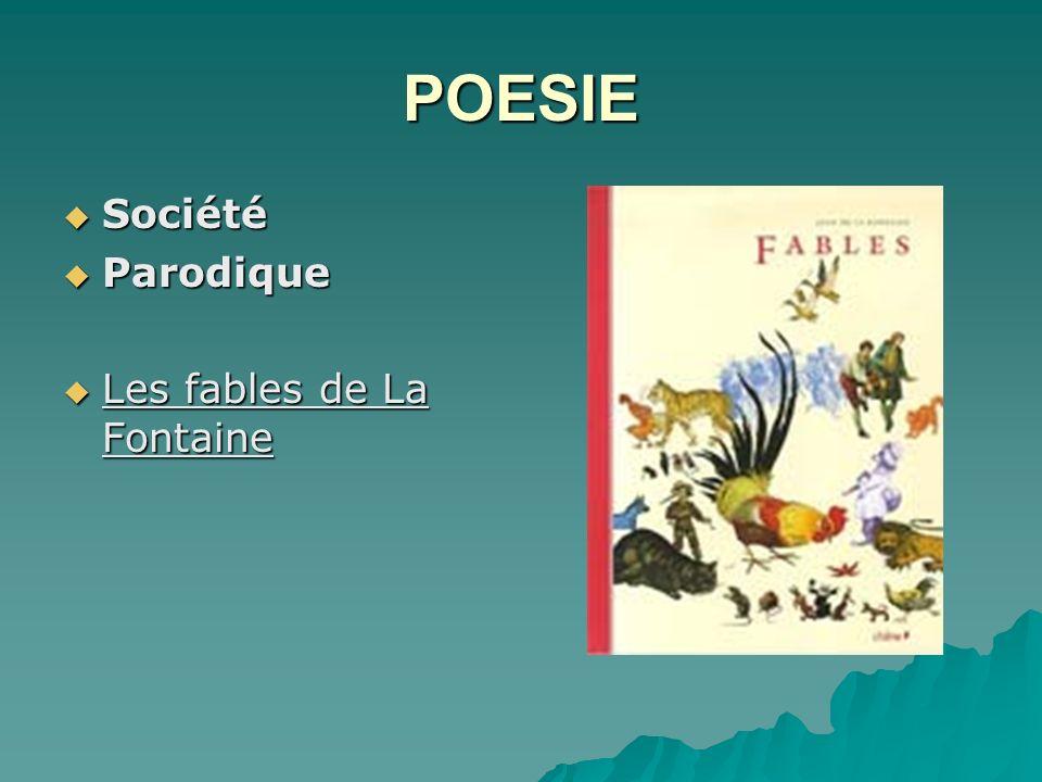 POESIE Société Parodique Les fables de La Fontaine