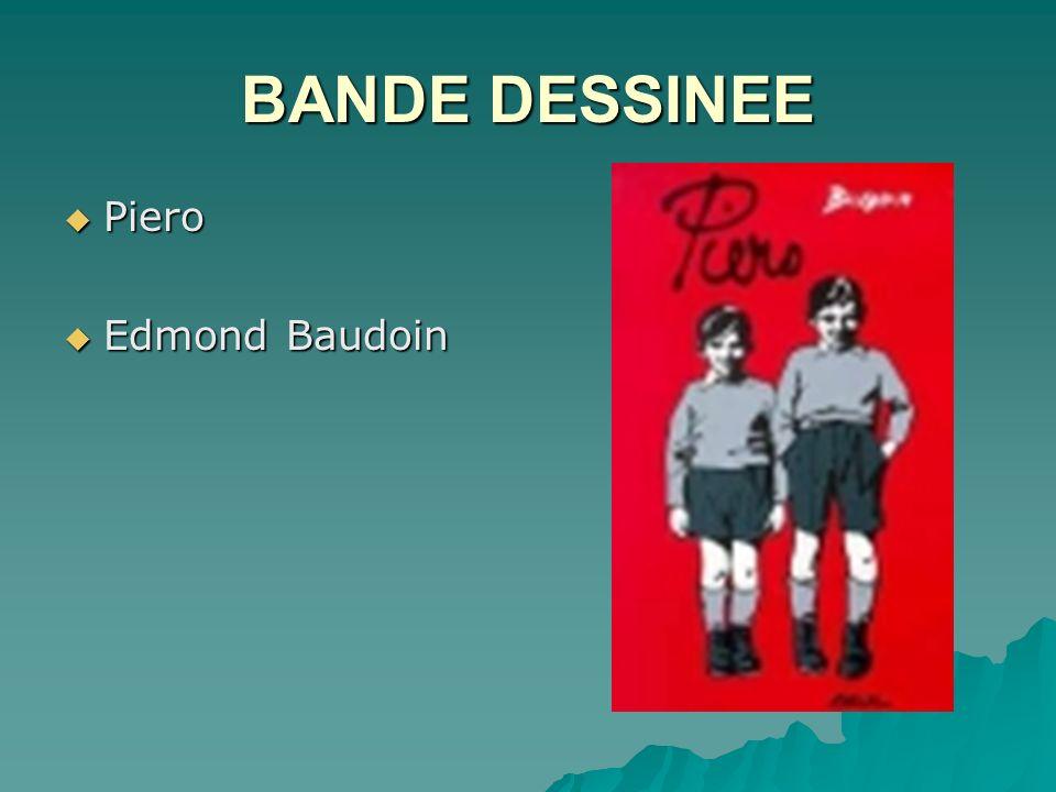 BANDE DESSINEE Piero Edmond Baudoin
