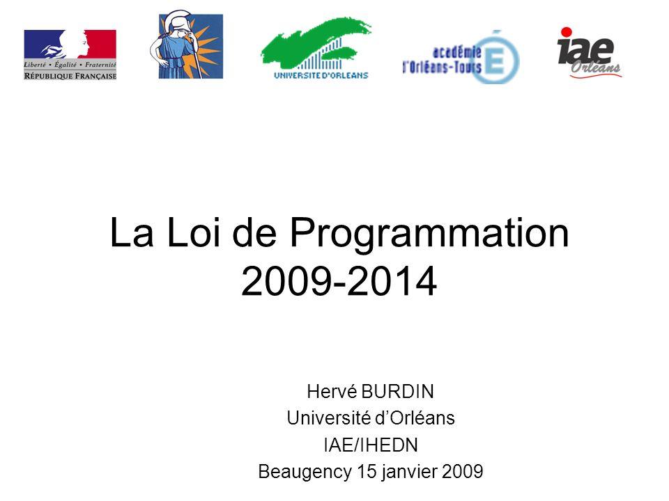 La Loi de Programmation 2009-2014