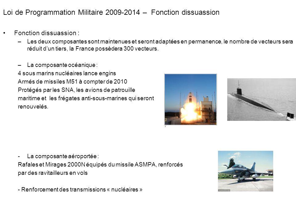 Loi de Programmation Militaire 2009-2014 – Fonction dissuassion