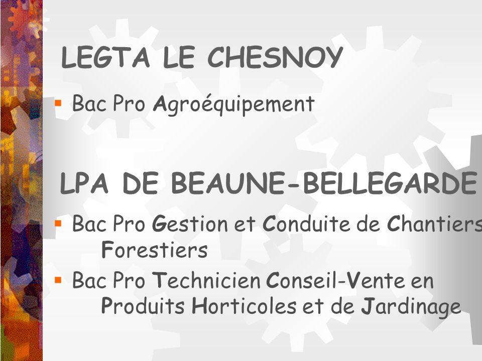 LPA DE BEAUNE-BELLEGARDE