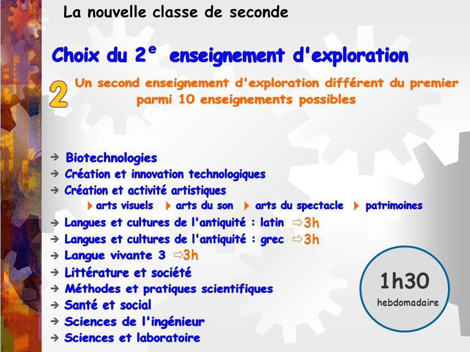 Choix du 2 enseignement d exploration e