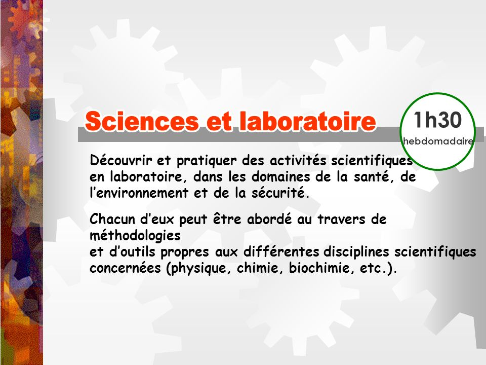 Sciences et laboratoire Sciences et laboratoire