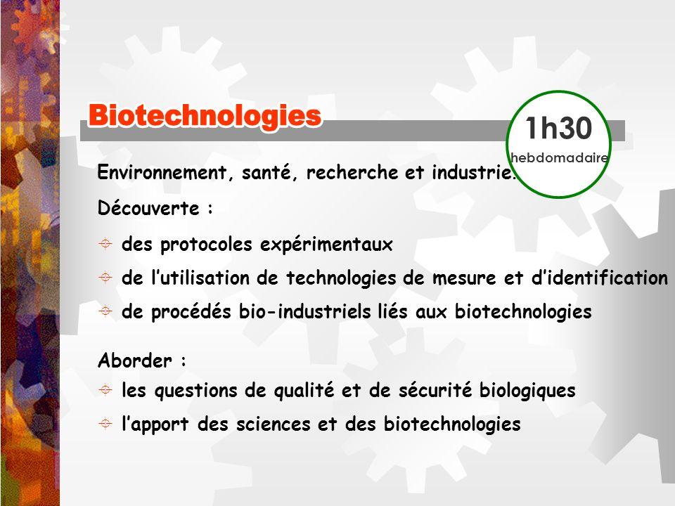 Biotechnologies Biotechnologies 1h30