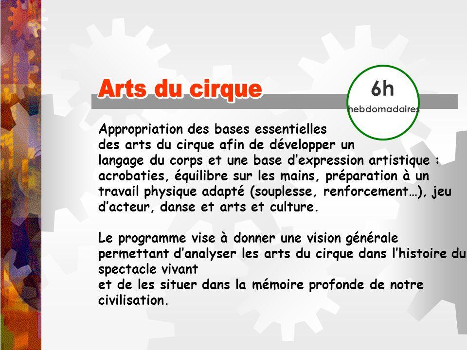 Arts du cirque Arts du cirque 6h Appropriation des bases essentielles