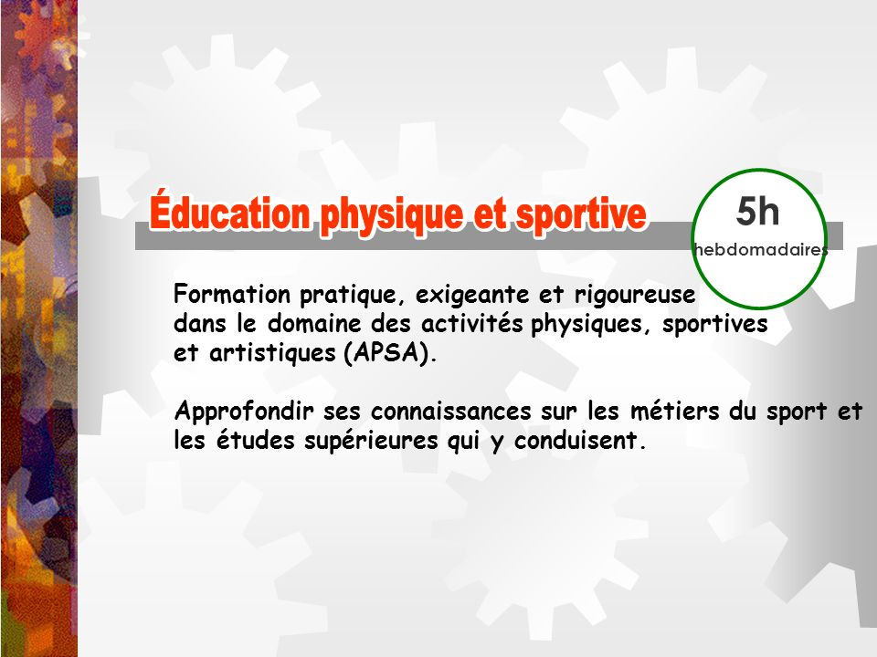 Éducation physique et sportive Éducation physique et sportive