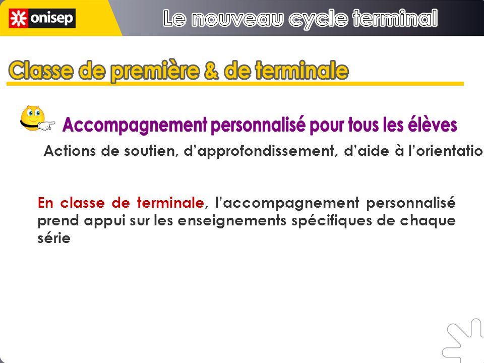 Le nouveau cycle terminal Le nouveau cycle terminal