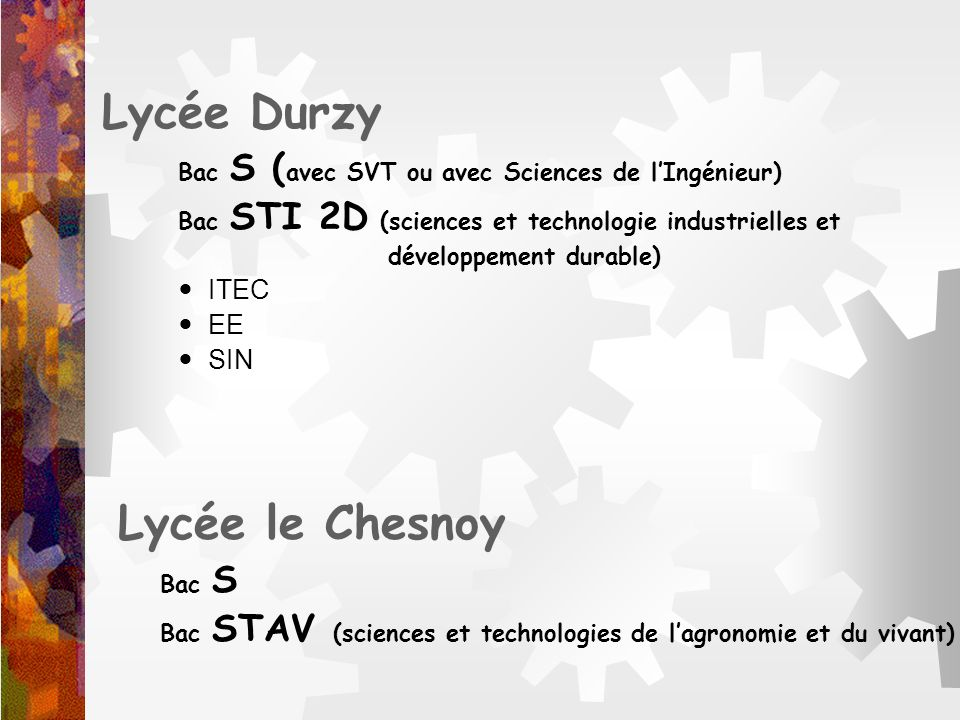 Lycée le Chesnoy Lycée Durzy