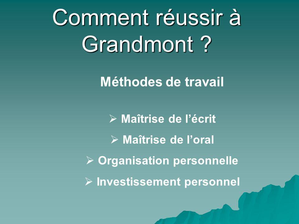 Comment réussir à Grandmont