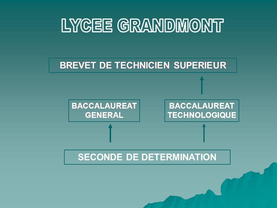 LYCEE GRANDMONT BREVET DE TECHNICIEN SUPERIEUR