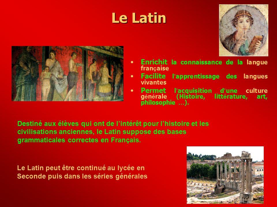 Le Latin Enrichit la connaissance de la langue française