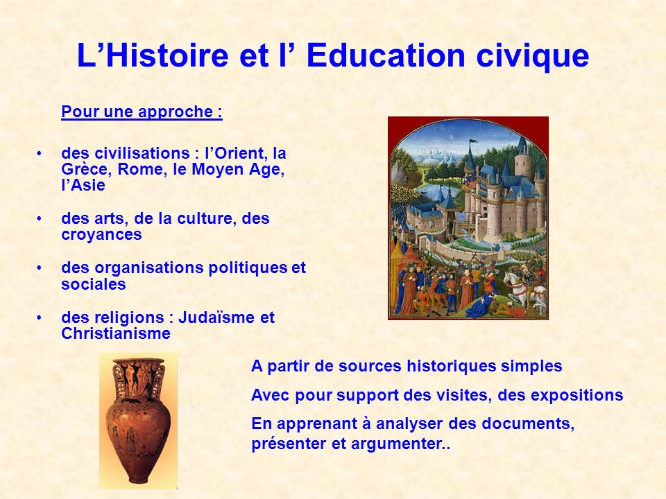 L'Histoire et l' Education civique