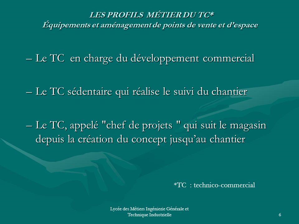 Lycée des Métiers Ingénierie Générale et Technique Industrielle