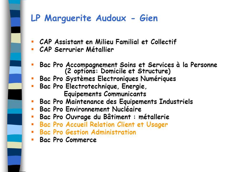 LP Marguerite Audoux - Gien
