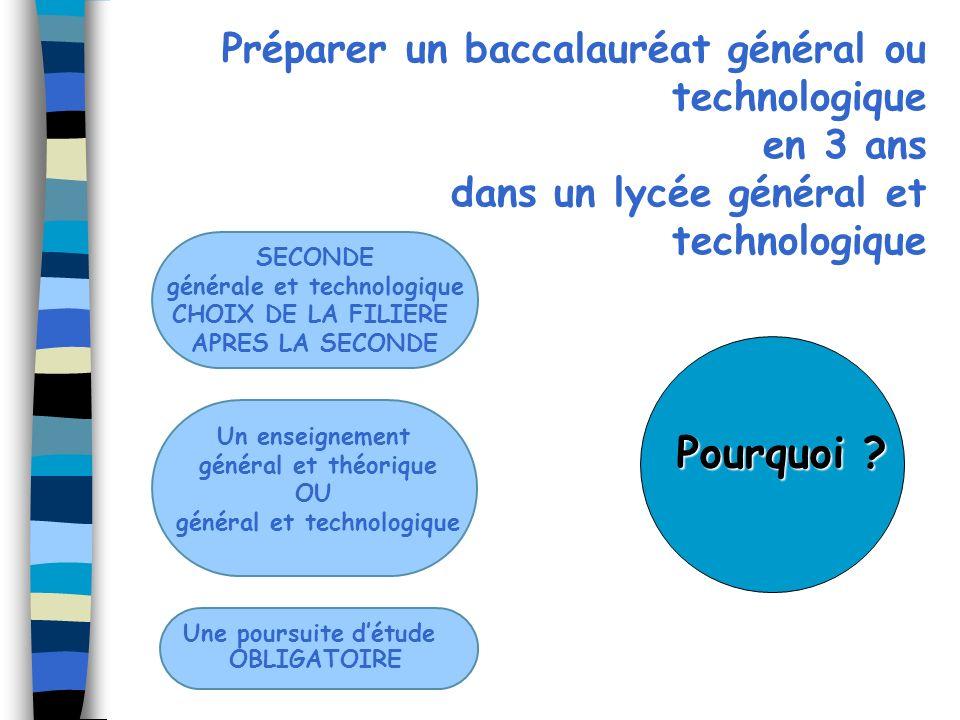 générale et technologique général et technologique