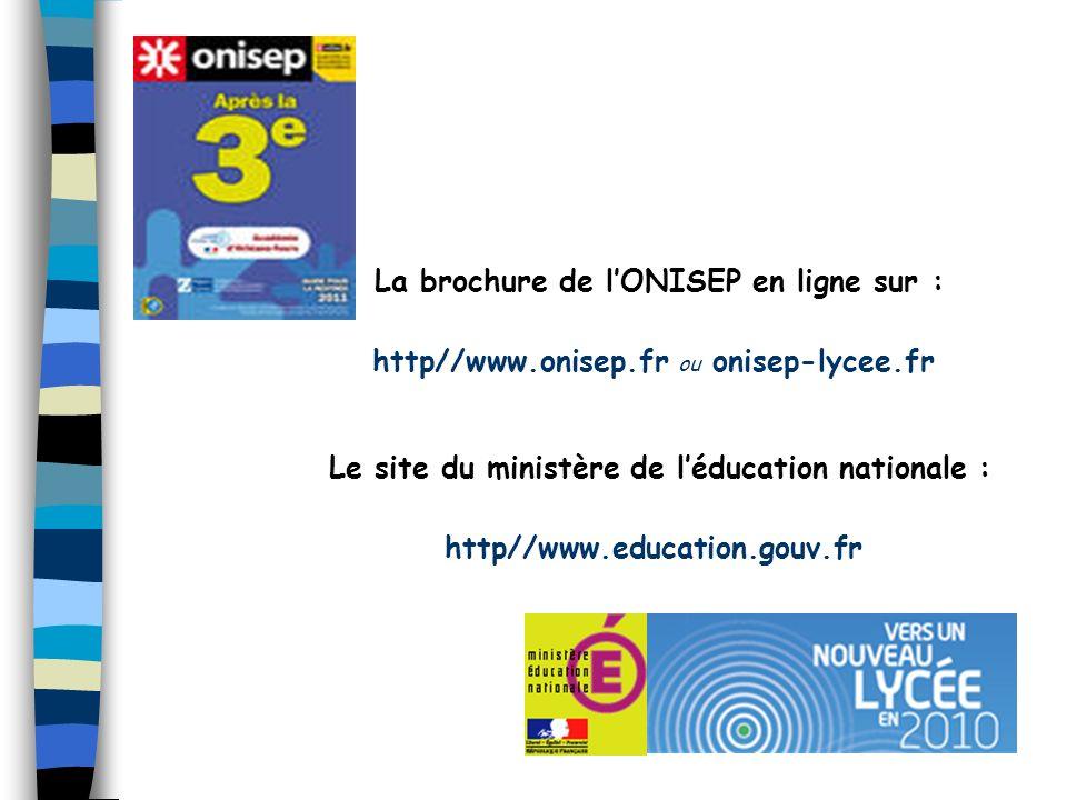 La brochure de l'ONISEP en ligne sur :