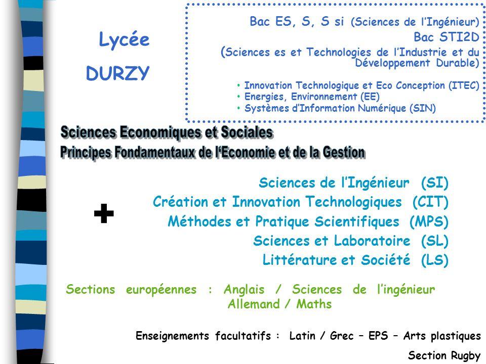 + Sciences Economiques et Sociales