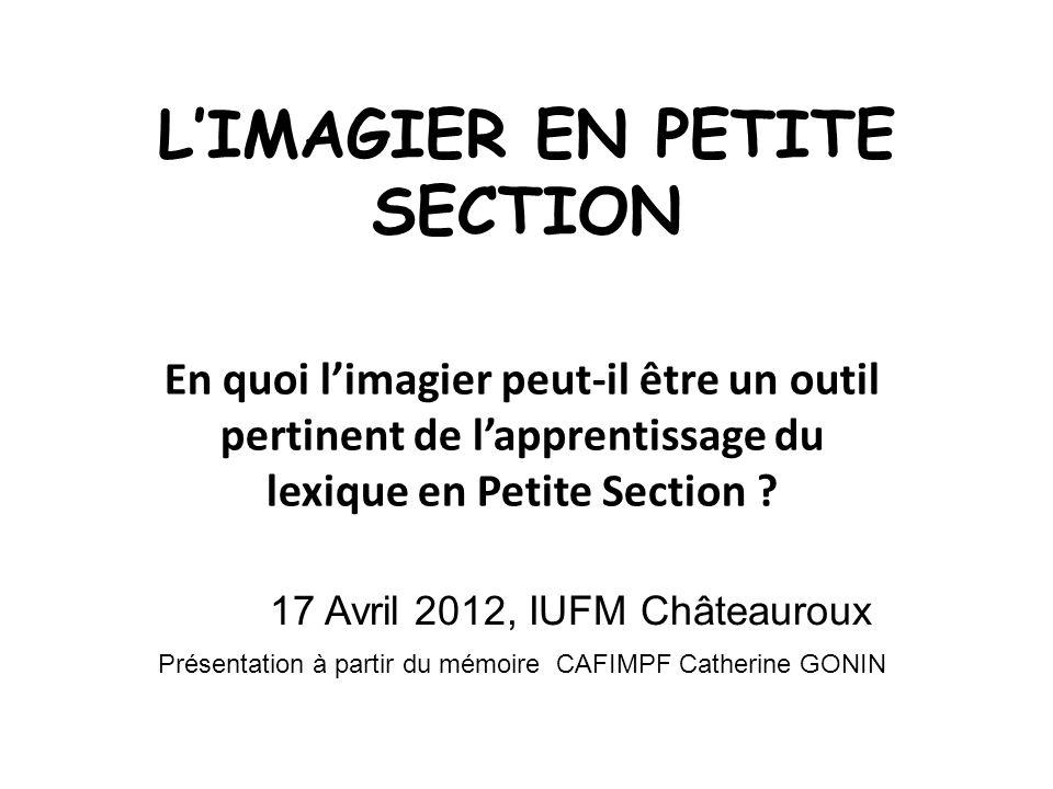 L'IMAGIER EN PETITE SECTION