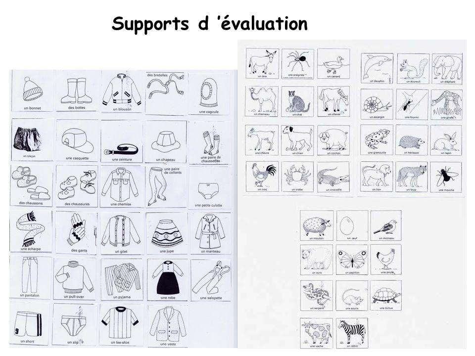 Supports d 'évaluation