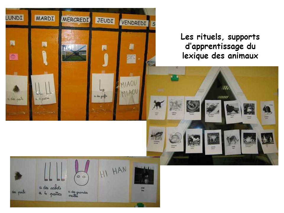 Les rituels, supports d'apprentissage du lexique des animaux