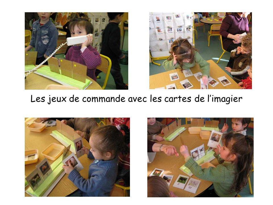 Les jeux de commande avec les cartes de l'imagier