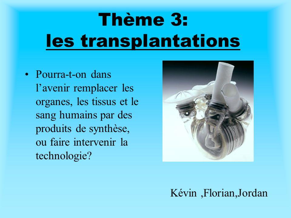 Thème 3: les transplantations