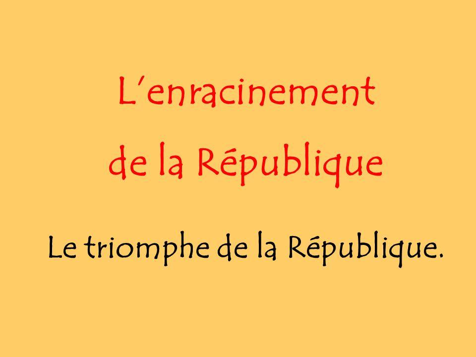 Le triomphe de la République.