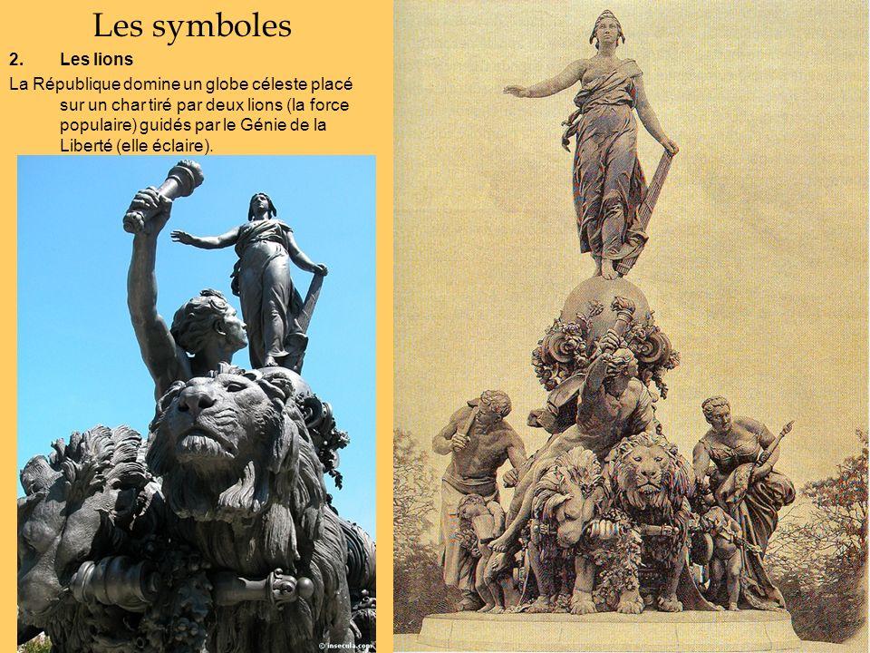 Les symboles Les lions.