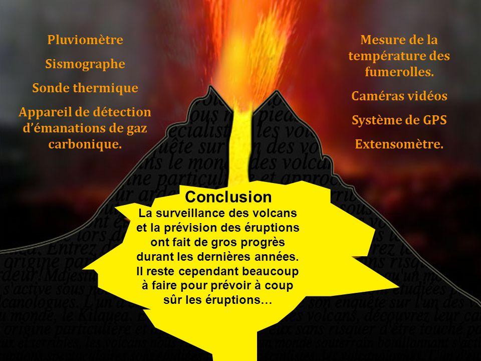 Conclusion Pluviomètre Sismographe Sonde thermique