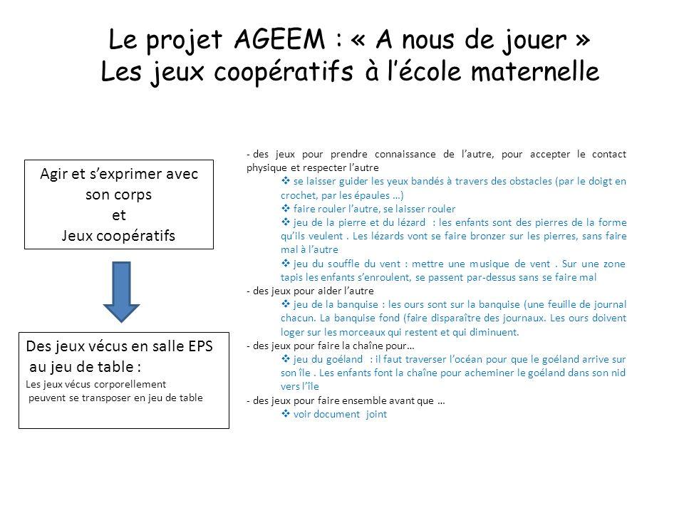 Le projet AGEEM : « A nous de jouer »