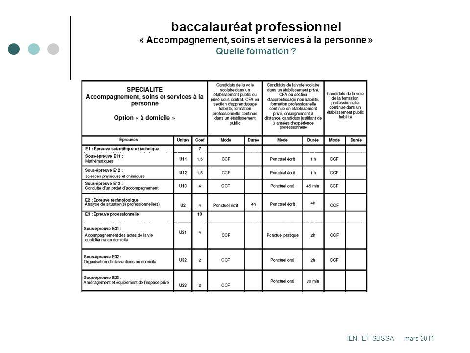 baccalauréat professionnel « Accompagnement, soins et services à la personne » Quelle formation