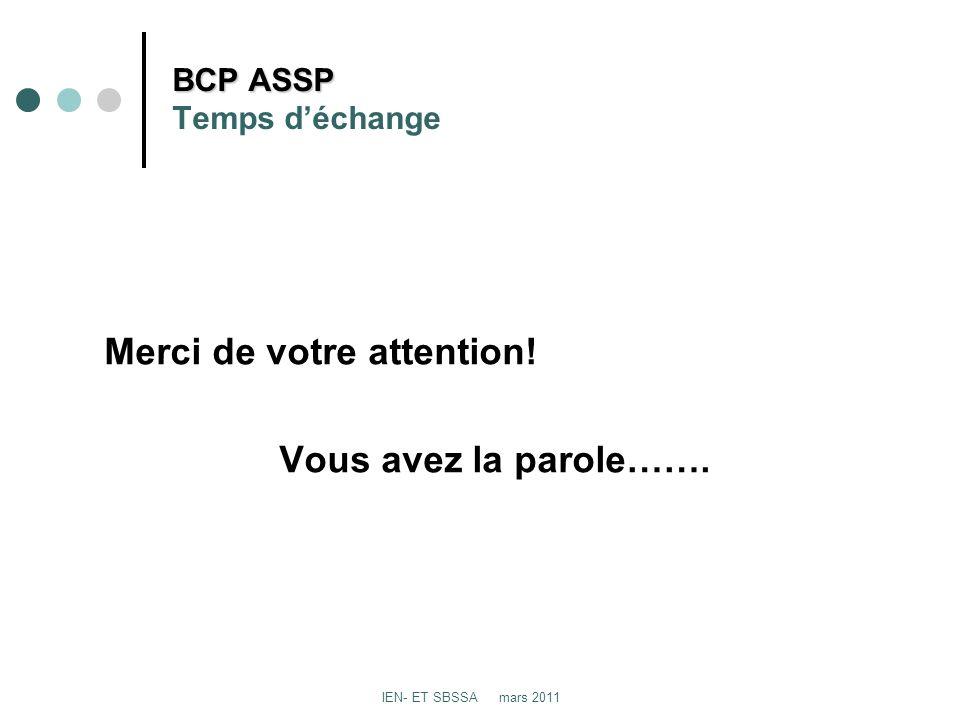 BCP ASSP Temps d'échange