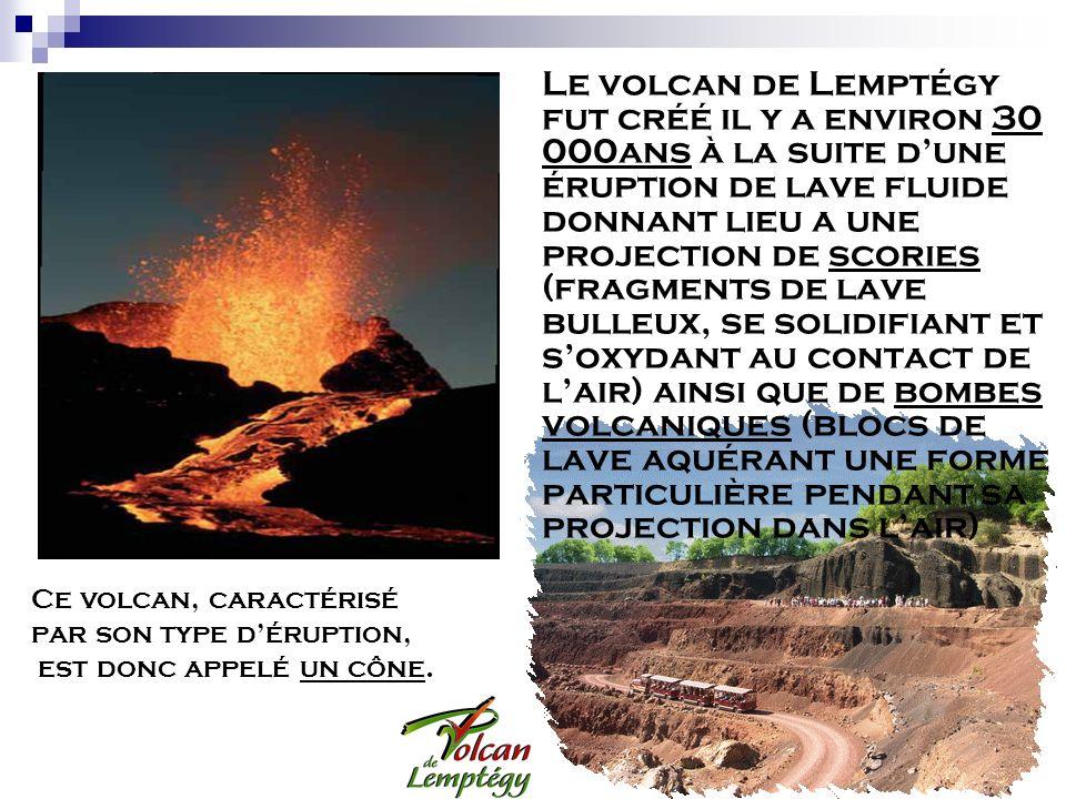 par son type d'éruption, est donc appelé un cône.